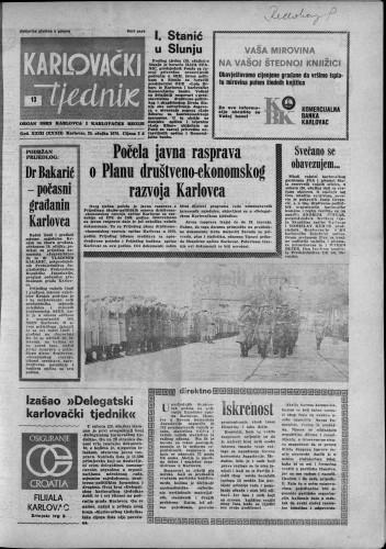 Karlovački tjednik: 1976 • 13