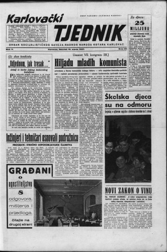Karlovački tjednik: 1957 • 29