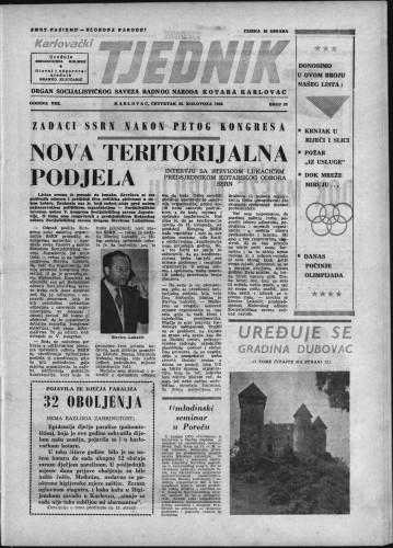 Karlovački tjednik: 1960 • 33