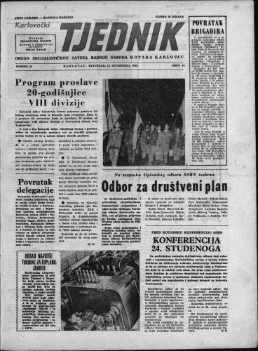 Karlovački tjednik: 1962 • 44