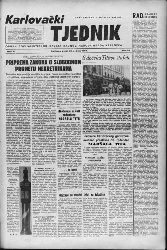 Karlovački tjednik: 1954 • 22