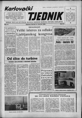 Karlovački tjednik: 1958 • 34