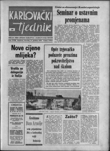 Karlovački tjednik: 1970 • 50