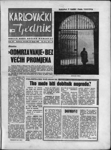 Karlovački tjednik: 1966 • 24