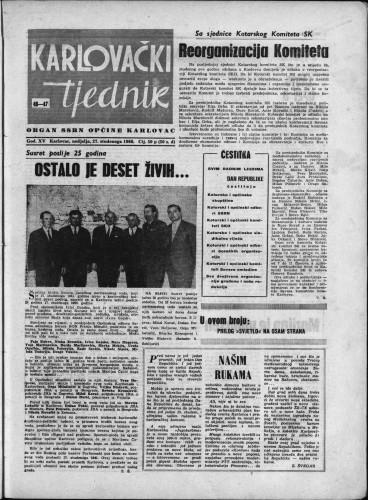 Karlovački tjednik: 1966 • 46