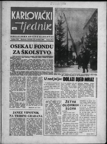 Karlovački tjednik: 1965 • 51