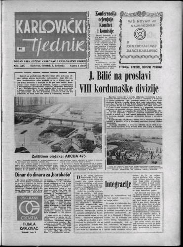 Karlovački tjednik: 1972 • 40