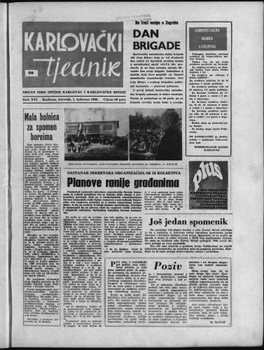 Karlovački tjednik: 1968 • 30