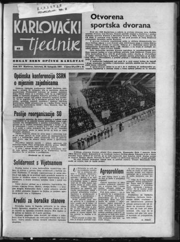 Karlovački tjednik: 1967 • 42
