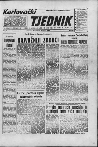 Karlovački tjednik: 1957 • 47
