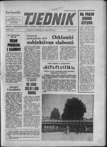 Karlovački tjednik: 1963 • 39