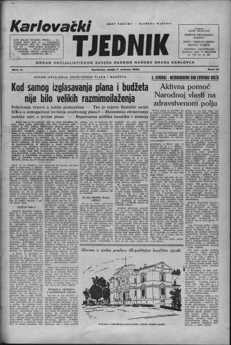 Karlovački tjednik: 1954 • 19
