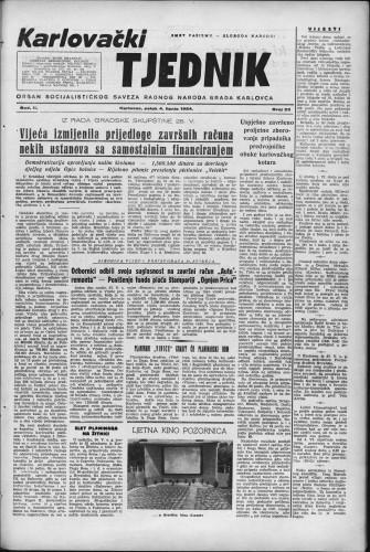 Karlovački tjednik: 1954 • 23