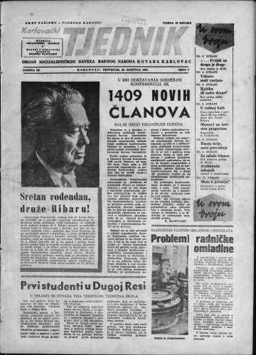 Karlovački tjednik: 1961 • 3