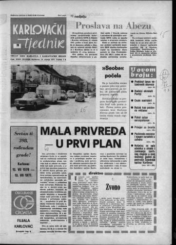 Karlovački tjednik: 1977 • 28