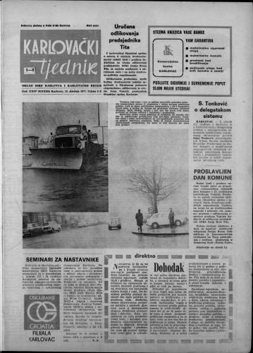Karlovački tjednik: 1977 • 1
