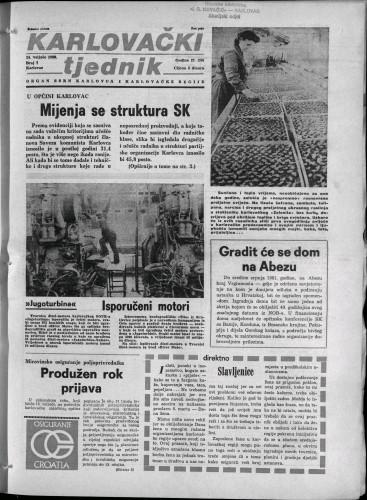 Karlovački tjednik: 1980 • 7