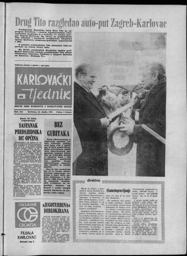 Karlovački tjednik: 1973 • 11