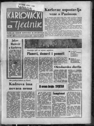 Karlovački tjednik: 1967 • 44