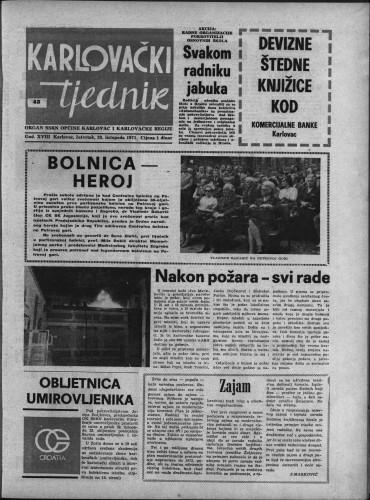 Karlovački tjednik: 1971 • 43