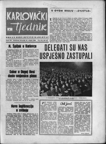 Karlovački tjednik: 1966 • 7