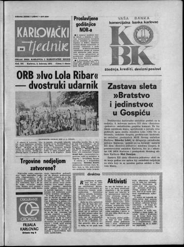 Karlovački tjednik: 1973 • 32