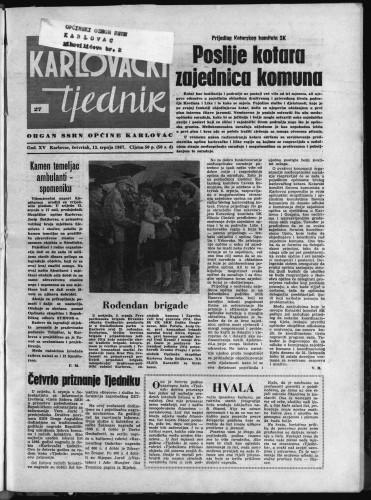 Karlovački tjednik: 1967 • 27
