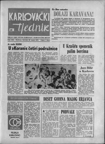 Karlovački tjednik: 1972 • 29