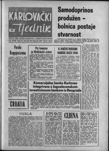 Karlovački tjednik: 1970 • 42