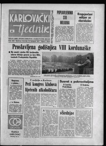 Karlovački tjednik: 1972 • 41