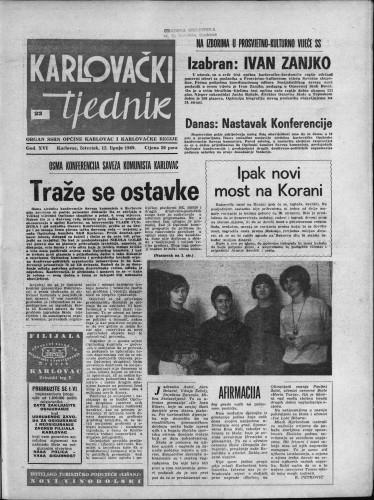 Karlovački tjednik: 1969 • 23