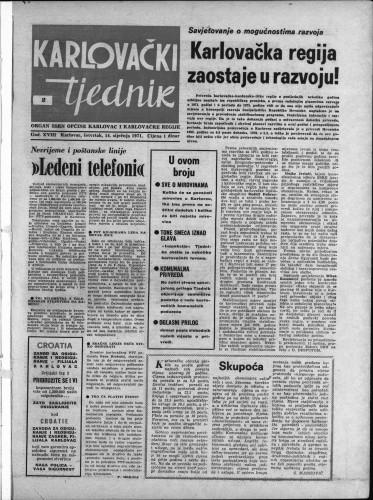 Karlovački tjednik: 1971 • 2