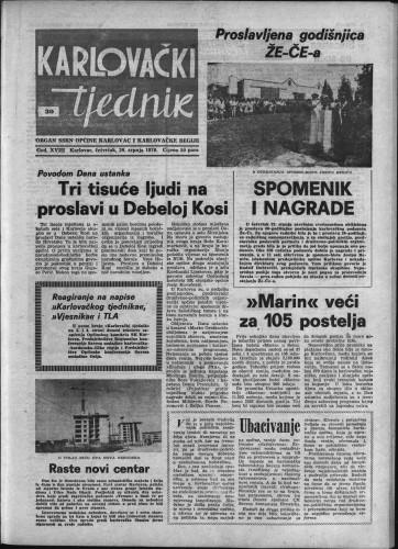 Karlovački tjednik: 1970 • 30