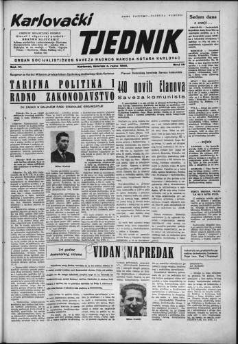 Karlovački tjednik: 1958 • 36