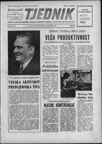 Karlovački tjednik: 1960 • 39