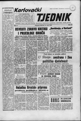 Karlovački tjednik: 1957 • 38