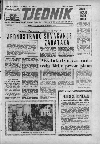 Karlovački tjednik: 1959 • 14