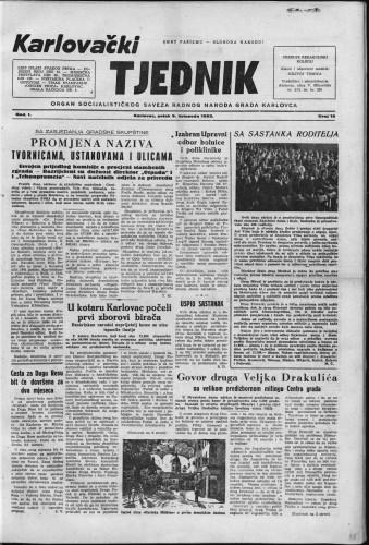 Karlovački tjednik: 1953 • 15