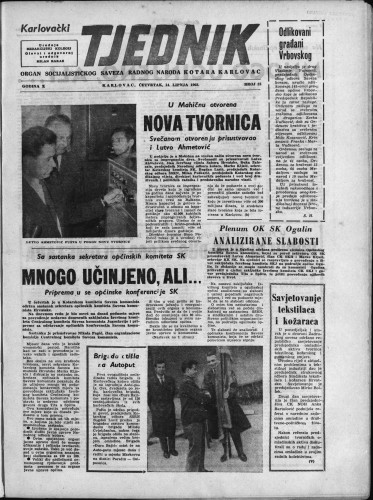 Karlovački tjednik: 1962 • 23
