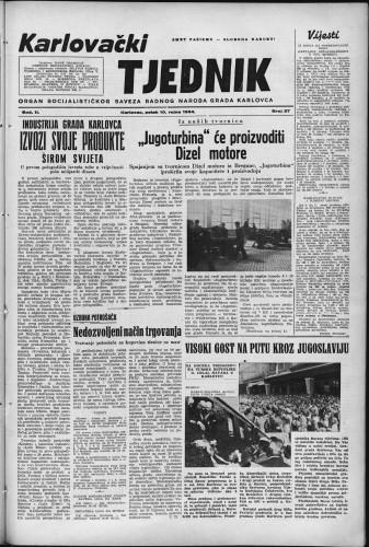 Karlovački tjednik: 1954 • 37