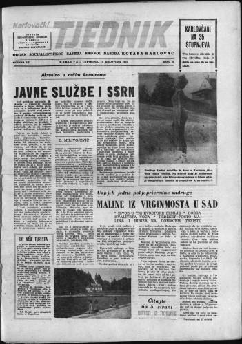Karlovački tjednik: 1961 • 32