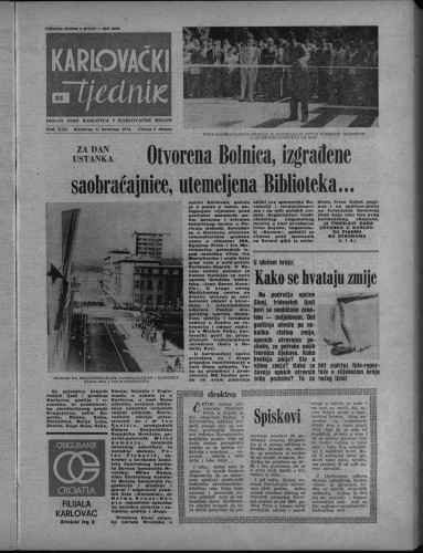 Karlovački tjednik: 1974 • 31