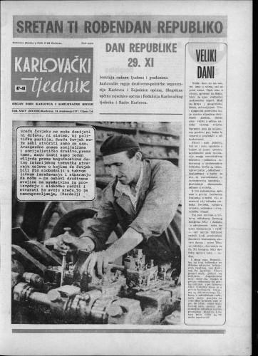 Karlovački tjednik: 1977 • 47