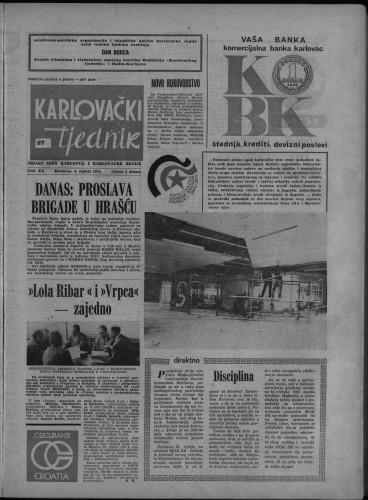 Karlovački tjednik: 1974 • 27