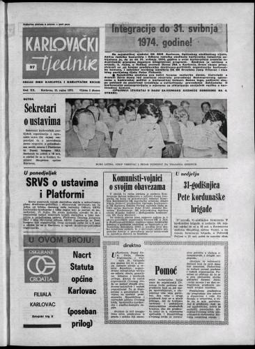 Karlovački tjednik: 1973 • 37