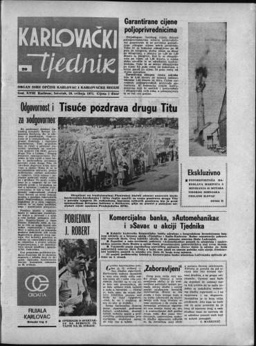 Karlovački tjednik: 1971 • 20