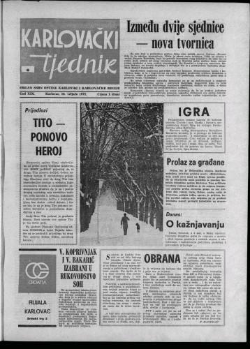 Karlovački tjednik: 1972 • 6