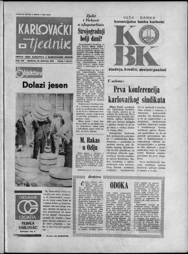 Karlovački tjednik: 1973 • 34
