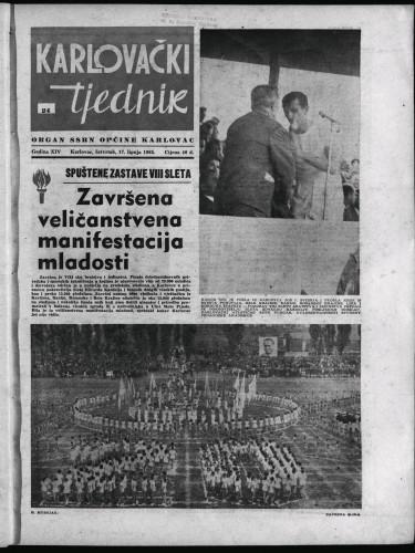 Karlovački tjednik: 1965 • 24