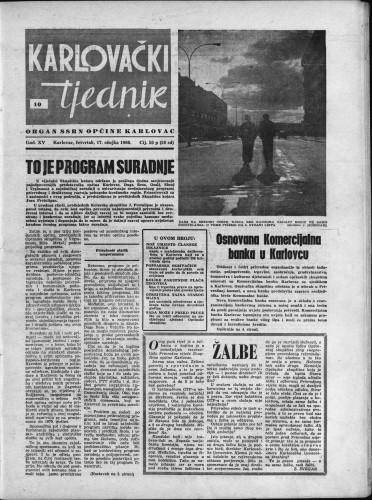 Karlovački tjednik: 1966 • 10